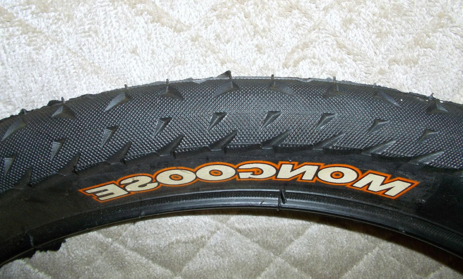 Mongoose Bicycle Tire 20 x 2.0 Smooth Tread Black White Oran