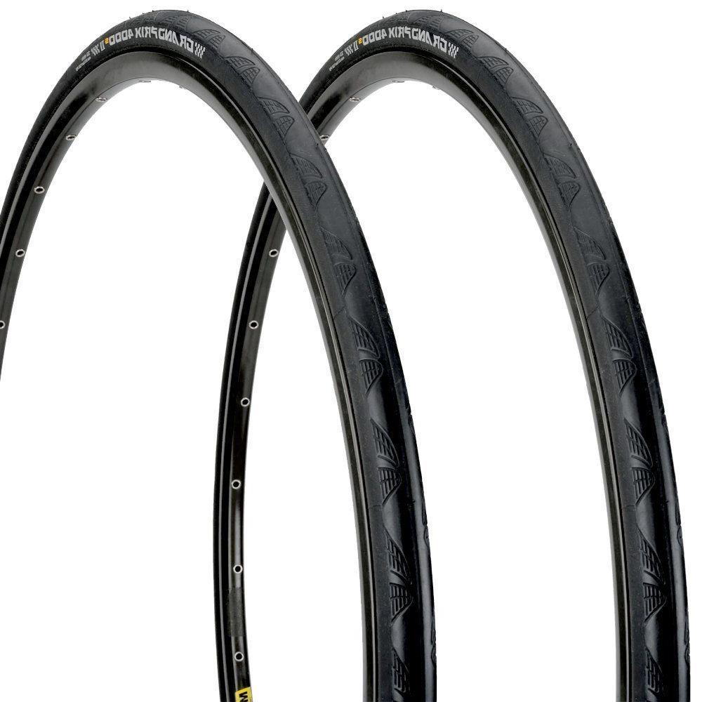 Pair Continental 4000s II Black x Road Set