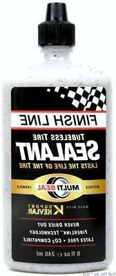 Finish Line TS0086601 Tubeless Tire Sealant - 8 oz, White, 8