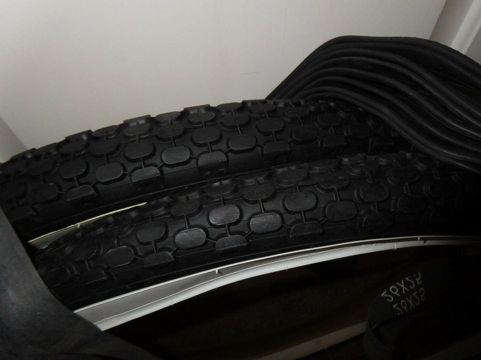 """TWO Duro Brick Bicycle Tires/TUBE Wall 26""""X2.125"""""""