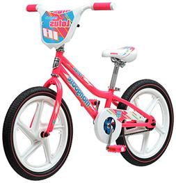 Mongoose Lotus Girl's Bicycle, 18-Inch Wheels, Pink