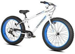 Mongoose Men's Dolomite Fat Boys Tire Cruiser Bike, Blue, 26