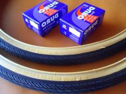 *New 700x35c Pair of Gum Wall Tires + Tubes Road Fixie Bike