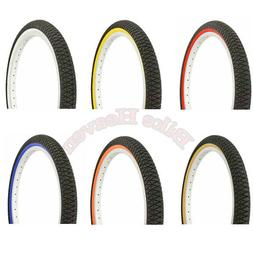 "NEW! Duro Bicycle Tire 20"" x 1.95"" BMX LOWRIDER FIXIE MTB CY"