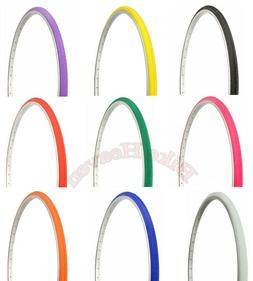 """NEW! Bicycle DURO Tire  27"""" x 1""""  Bike TlRE Solid Colors Sli"""