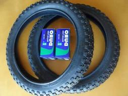 New Kids Bicycle Tires and Tubes 16x2.125 Fits 1.75 1.95 Bla
