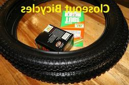 New Kids Bicycle Tires and Tubes 18 x 2.125 Fits 1.75 1.95 B