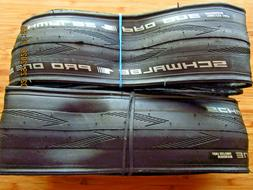 NEW PAIR 2 Schwalbe PRO ONE 700x25 Road TIRES Bike TLE Clinc
