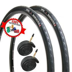 Hutchinson Nitro 2 Black Road Bike Tyres & Presta Tubes  - 7