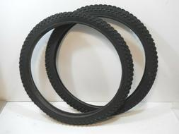 PAIR BLACK CHENG SHIN BICYCLE TIRES 20 X 1.75 JUMPER RACING