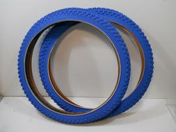 PAIR BLUE CHENG SHIN BICYCLE TIRES 20 X 1.75 JUMPER RACING B