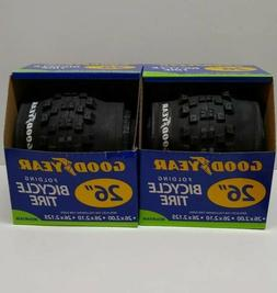 """PAIR GoodYear Kent Mountain Bicycle Tire 26"""" inch Folding 26"""