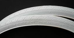 Pair of two Road Bike Bicycle Tire 26 x 1.25 DURO White