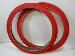 PAIR RED CHENG SHIN BICYCLE TIRES 20 X 1.75 JUMPER RACING BM