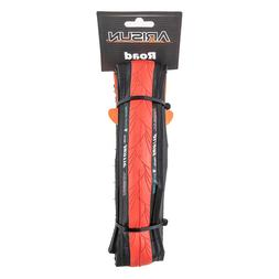Pair Road Bicycle Folding  Tire 700 x 23 c Arisun Red and Bl