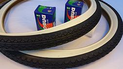Pair of Two  Diamond White Wall 26x2.125 Bicycle Tires with