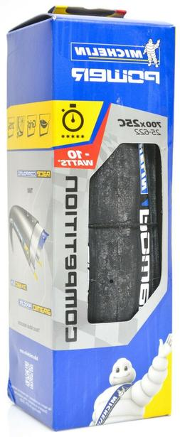 Michelin Power COMPETITION Tire 700x25mm PAIR - Black - NEW
