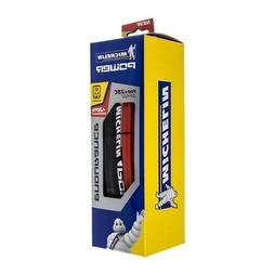 Michelin Power Endurance Folding Road Tire 700x25c Red Black