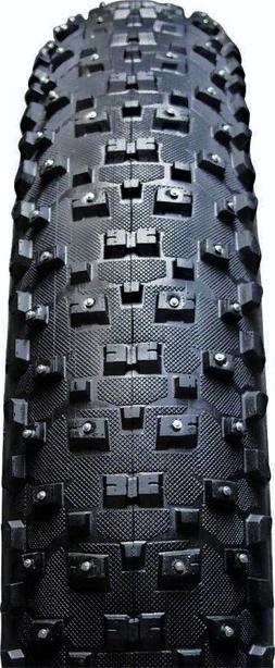 "2-Pack VEE Rubber STUDDED SnowShoe XL 26"" x 4.8"" Folding Fat"