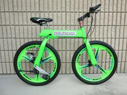 Chainless S1 Green 24 Inch Tire Bicycle