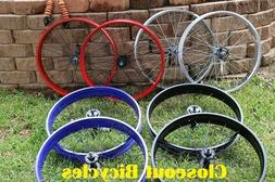 Silver Black Red Blue Fat Tire Cruiser Bicycle Coaster Wheel