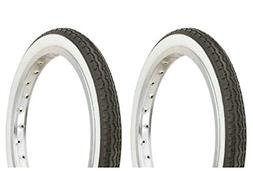 """Lowrider Tire Set. 2 Tires. Two Tires Duro 16"""" x 1.75"""" Black"""