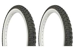 """Lowrider Tire Set. 2 Tires. Two Tires Duro 20"""" x 2.125"""" Blac"""