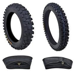 Kenda Tire Set: Front Tire 60/100-14 With Inner Tube + Rear