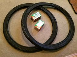 TWO  DURO 26X1.95  BICYCLE  TIRE+TUBE COMBO BLACK