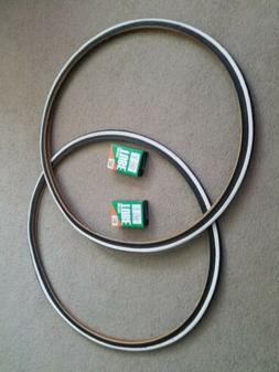 TWO DURO 700X25 C BICYCLE TIRES FIXIE TRACK URBAN BLACK N WH