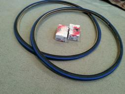 TWO DURO 700x25C DOUBLE  BLUE LINED Tires + Tubes Road Fixie