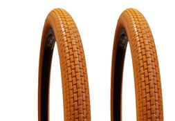 """Two  DELI BICYCLE BIKE TIRES BRICK TREAD 26"""" x 2.125"""" ALL OR"""