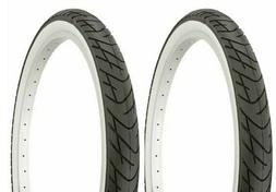"""Two 2 Tires Duro 24"""" x 2.125"""" Black/White Side Wall lowrider"""