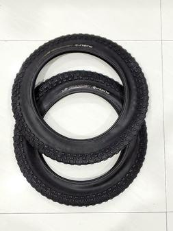 TWO  BICYCLE TIRES SUNLT 20x4.0 BK/BK ISO:406, IDEAL PARA LA