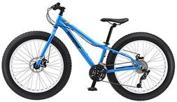 "Mongoose Vinson Fat Tire Bike, Blue, 24"" Wheel"