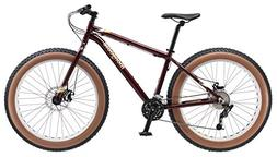 "Mongoose Vinson Fat Tire Bike, Burgundy, 26"" Wheel, Medium F"
