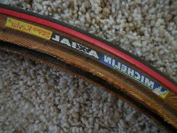 VINTAGE Michelin AXIAL 700x23 Red Amber Wall Clincher Wire T
