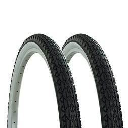 Fenix 1 Pair of Wanda Diamond Tread Tire White Wall 26 x 2.1